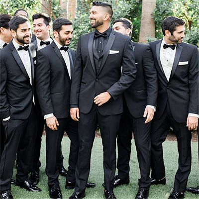Adrian One Button Black Slim Fit Wedding Groomsmen Suit Online_2