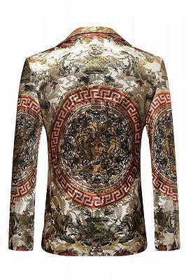 Colorful Fashion Peaked Lapel Slim Fit Mens Blazer_2