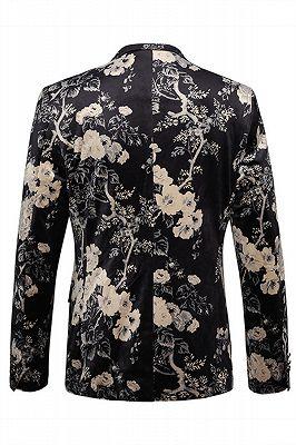 Robert Black Floral Best Fitted Blazer Jacket_2