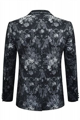 Juan Black Floral Slim Fit Casual Blazer Jacket Online_2