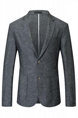 Henry Dark Gray Summer Linen Fashion Men Suits_1