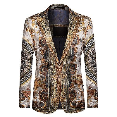 Custom Made Colorful Mens Slim Fit Blazer with Peaked Lapel_2