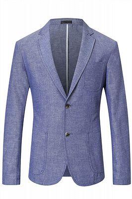 Nathaniel Cheap Blue Summer Linen Men Blazer In Stock_1
