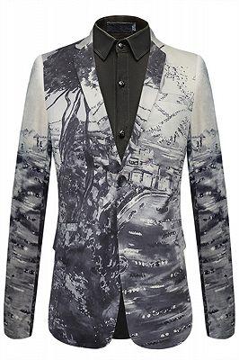 Stylish Tree Printed Slim Fit Blazer Jacket_1