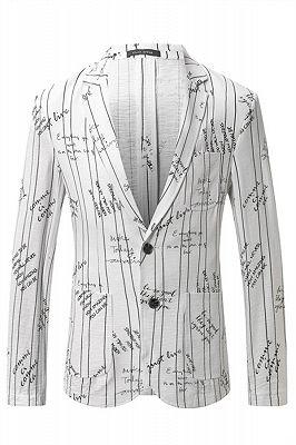 Lorenzo Stylish Summer Linen Striped Blazer Jacket_1