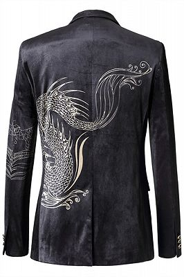 Jordan Black Animal Printed Fashion Slim Fit Men Blazer_2