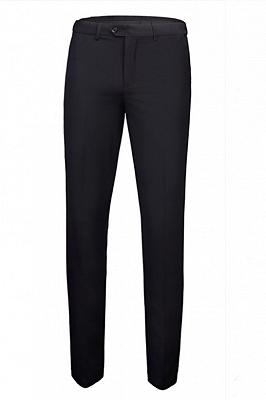 Tate Simple Black Peaked Lapel Fashion Slim Fit Formal Men Suits_3