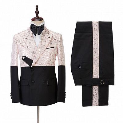 Eduardo Stylish Peaked Lapel Slim Fit Bespoke Prom Men Suits Online_3