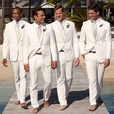 Jason White Shawl Lapel One Button Fashion Slim Fit Cheap Groomsmen Suits_2