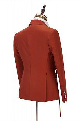 Giovanni Newest Peaked Lapel Best Slim Orange Men Suits for Casual_2