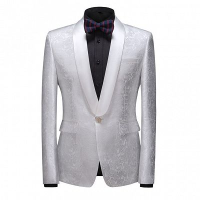 Jake Bespoke Slim Fit Shawl Lapel One Button Wedding Tuxedo_4