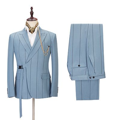 Micah New Arrival Striped Peaked Lapel Stylish Men Suits Online_2