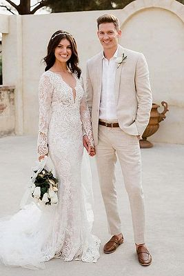Casual Beach Wedding Groom Suits Online | Summer Bespoke Men Suits for Sale_1