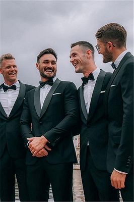 Xavier Dark Green Shawl Lapel One Button Best Slim Wedding Groomsmen Suits Online_1