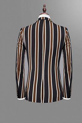 Jeremy Stylish Black Striped Men Suits for Prom_2
