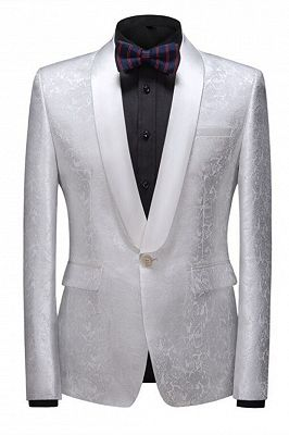 Jake Bespoke Slim Fit Shawl Lapel One Button Wedding Tuxedo_1