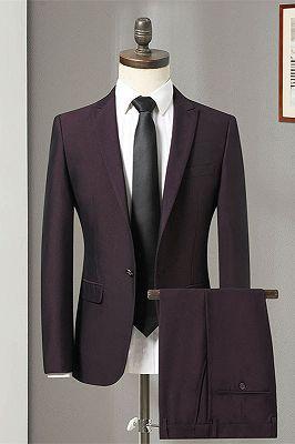 Oscar Purple Slim Fit Formal Business Men Suits Online_1