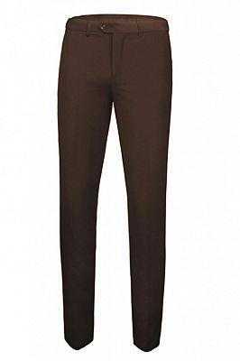 Gage Brown Three Pieces Tailored Peaked Lapel Slim Fit Wedding Groom Suits_2