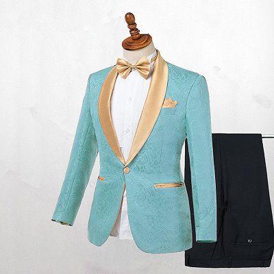 Brady Fashion Shawl Lapel One Button Wedding Suits Online_2
