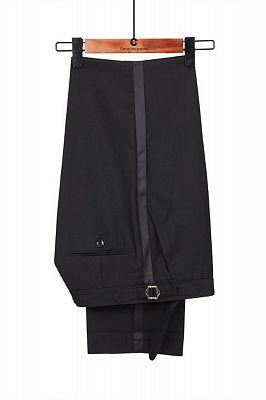 Omar Glamorous Black Peaked Lapel Men Suits for Prom_3