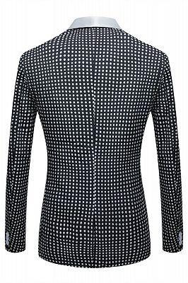 Shane Black Dot Slim Fit Shawl Lapel Wedding Tuxedo for Men_2