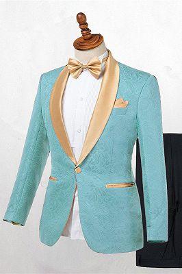 Brady Fashion Shawl Lapel One Button Wedding Suits Online_1
