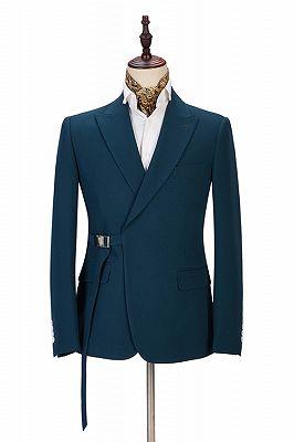 Alan Fashion Peaked Lapel Best Slim Formal Business Men Suits_1