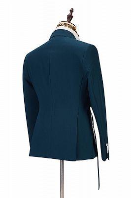 Alan Fashion Peaked Lapel Best Slim Formal Business Men Suits_2