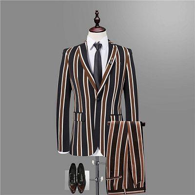 Jeremy Stylish Black Striped Men Suits for Prom_3