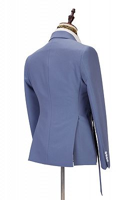 Preston Ocean Blue Peaked Lapel Slim Fit Men Suits for Prom_2
