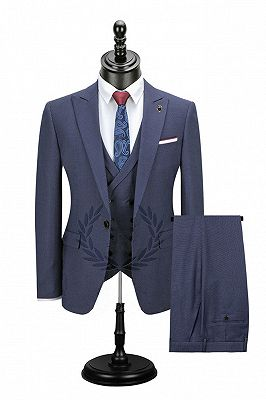 Alexis Fashion Peaked Lapel Bespoke Best Fitted Formal Men Suits_1