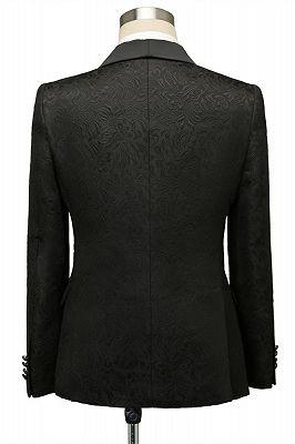 Bradley Stylish Black Jacquard Shawl Lapel Wedding Suits_2