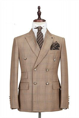 Rylan Double Breasted Peaked Lapel Fashion Men Suits for Business_1