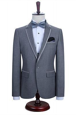 Damien Gray Fashion Slim Fit Notched Lapel Men Suits_3