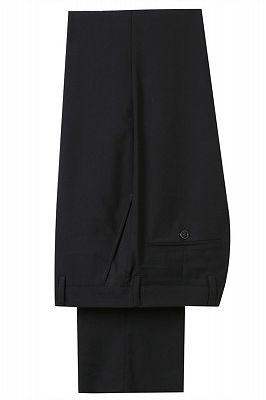Bradley Stylish Black Jacquard Shawl Lapel Wedding Suits_4