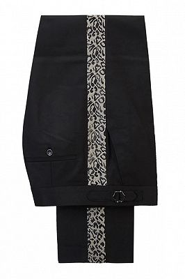 Ryder Cool Leopard Print Black Double Breasted Men Suits_5
