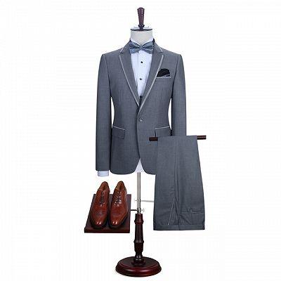 Damien Gray Fashion Slim Fit Notched Lapel Men Suits_4