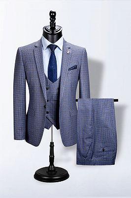 Jaylen Bespoke Plaid Notched Lapel Fitted Formal Business Men Suits_1