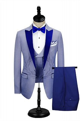 Royal Blue Peak Lapel Men's Formal Suit | Cheap Prom Suits Online_1