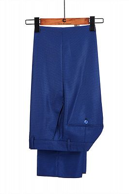 Martin Royal Blue Double Breasted Two-Piece Business men Suits_4
