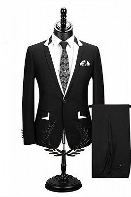 Erick Fashion Black Two Pieces Formal Business Men Suits_1