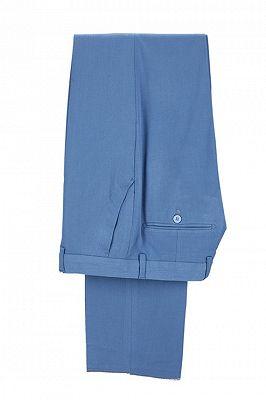 Raymond Blue Slim Fit Notched Lapel Men Suits Online_3