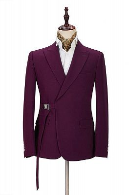 Zane Fashion Peaked Lapel Two-Pieces Cheap Men Suits Online_1