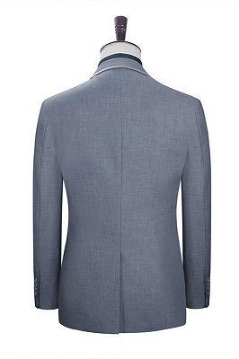 Damien Gray Fashion Slim Fit Notched Lapel Men Suits_2