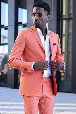 Jeffrey Coral Stylish Notched Lapel Slim Fit Cheap Men Suits_2