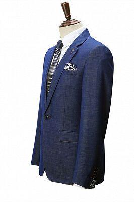 Stephen Dark Blue Cheap Simple Notched Lapel Men Suits Online_2