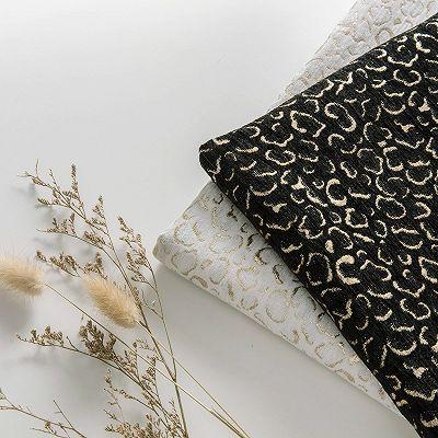Stylish Velvet Lapel Double Breasted Prom Suit | Belt Leopard Black Jacquard Men's Suit for Wedding_7