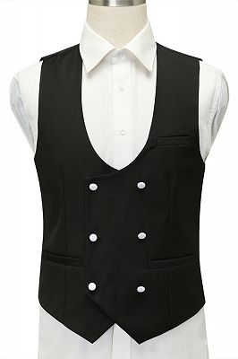 Miles White Jacquard Slim Fit Shawl Lapel Wedding Suits_4