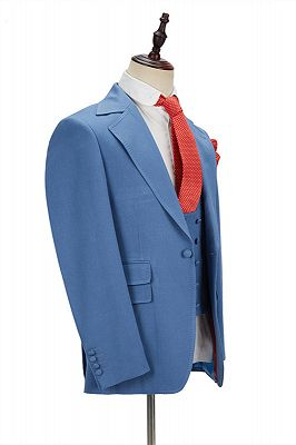 Raymond Blue Slim Fit Notched Lapel Men Suits Online_2