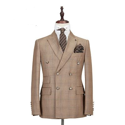 Rylan Double Breasted Peaked Lapel Fashion Men Suits for Business_3